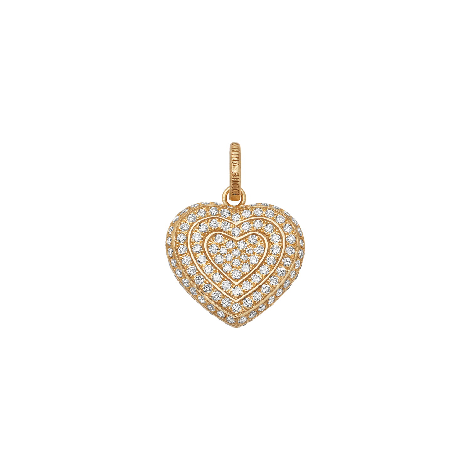 Diamond Pavé Small Cuore Pendant