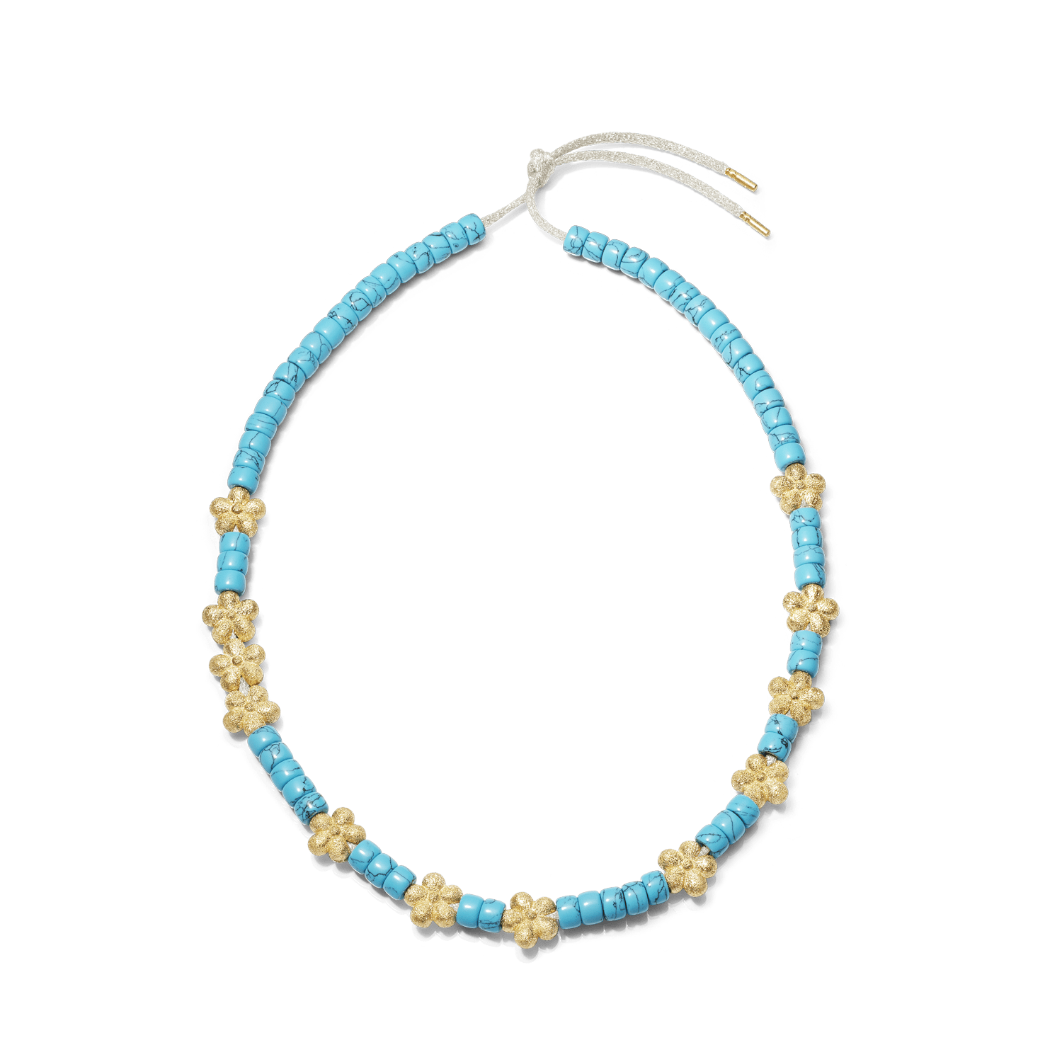 Carolina Bucci Forte Beads Necklace with Flower Beads