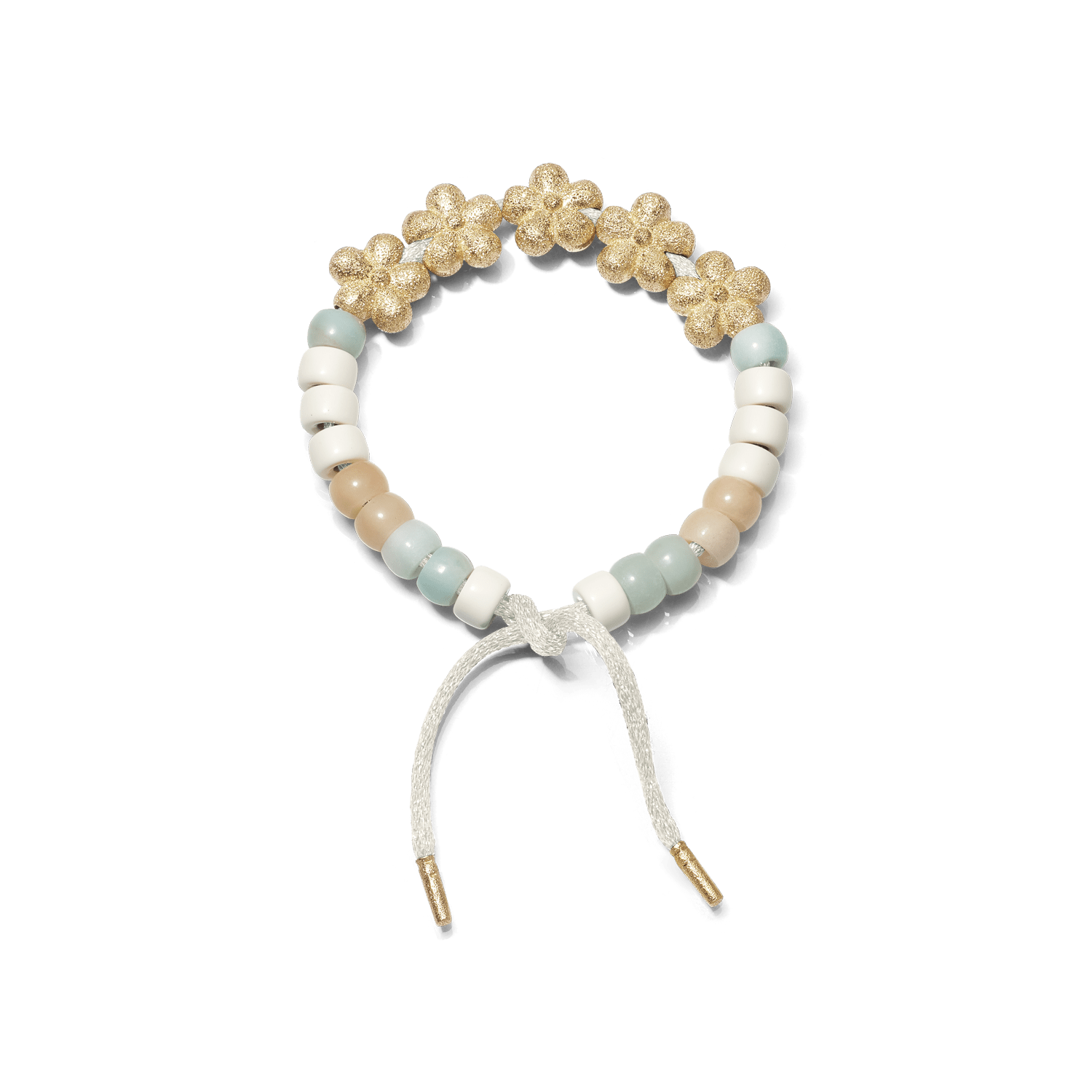 Carolina Bucci Forte Beads Bracelet with Flower Beads