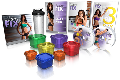 What you get with the 21 Day Fix Package