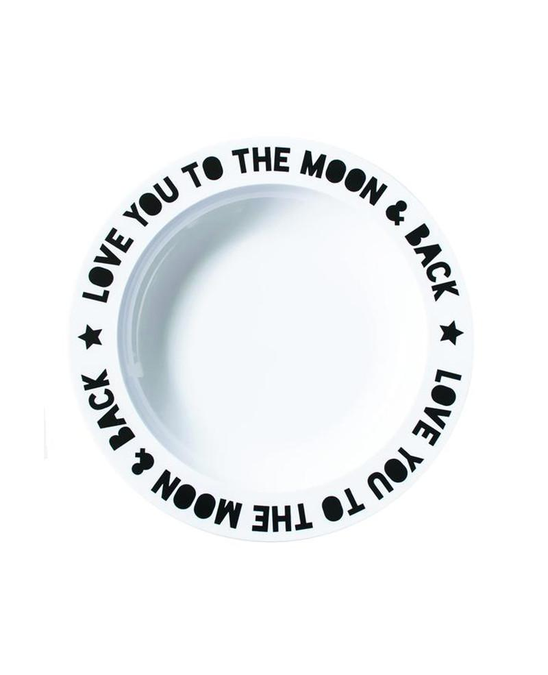 Aan Tafel - Bord 'Love You To The Moon'