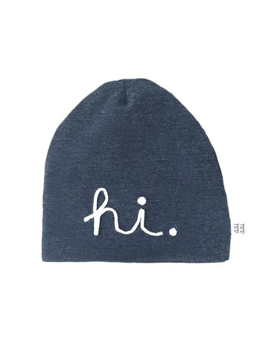 Beanie 'Hi' Dark Denim
