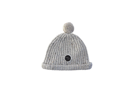 Beanie 'Pompon' Light Grey Melee