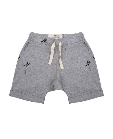 Short 'Palmtrees' Grey Melange