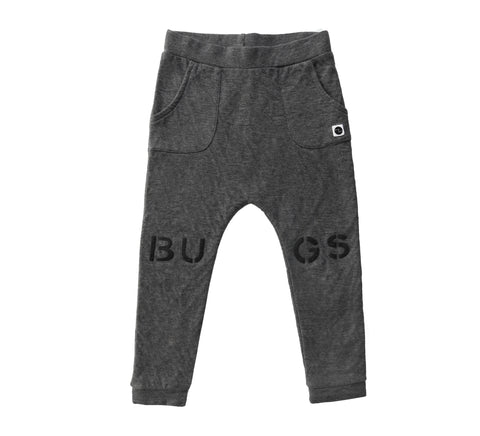 Sweatpants 'Bugs at knees' Dark Grey Melee
