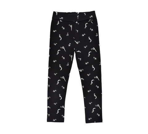 Sweatpants 'Bugs Letters' Black