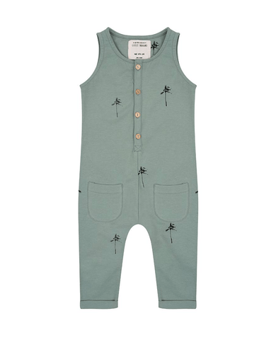 Jumpsuit 'Palmtrees' Soft Green