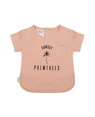 T-shirt 'Sunset' Dusty Coral