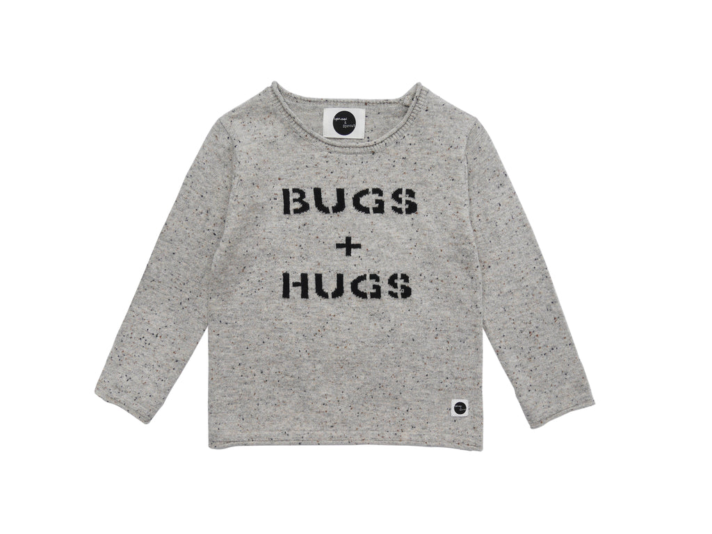 Truien - Sweater 'Bugs & Hugs' Light Grey Melee