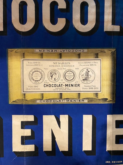 CHOCOLATE MENIER advertising sign - aptiques by Authentic PreOwned