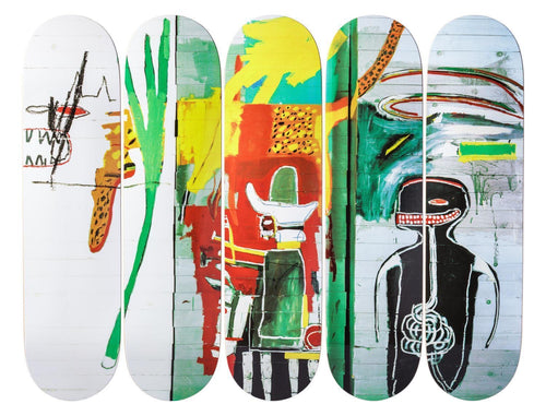 Jean-Michel Basquait- Untitled,1985 -Skateboards - aptiques by Authentic PreOwned