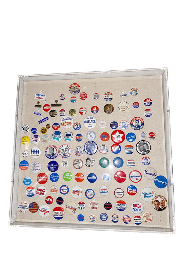 "Vintage Collection of ""Political Campaign Pins"" - aptiques by Authentic PreOwned"