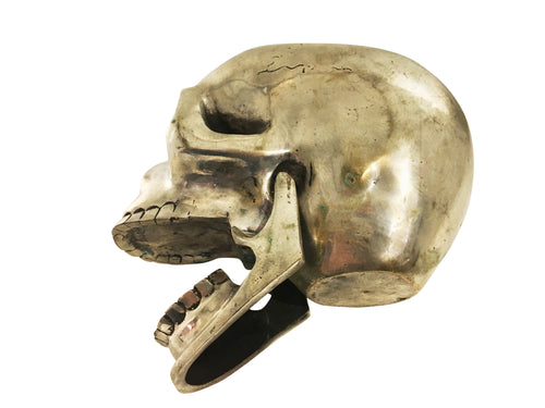 Vintage Life-Size Bronze Skull - aptiques by Authentic PreOwned