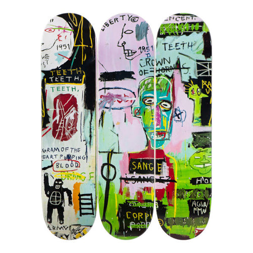Jean- Michel Basquait- In Italian-Skateboards - aptiques by Authentic PreOwned