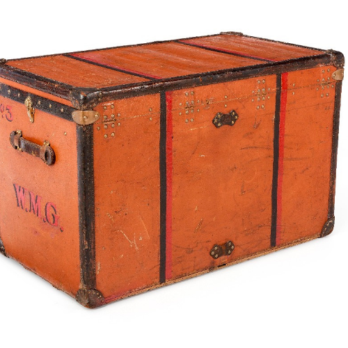 Louis Vuitton Vuittonite Orange Steamer Trunk - aptiques by Authentic PreOwned