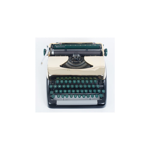 Smith Corona Black and Gold Chrome Plated Typewriter