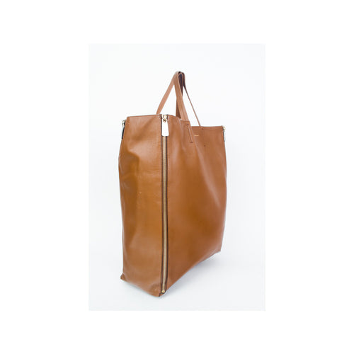 Celine Vertical Gusset Cabas Tote Camel - aptiques by Authentic PreOwned