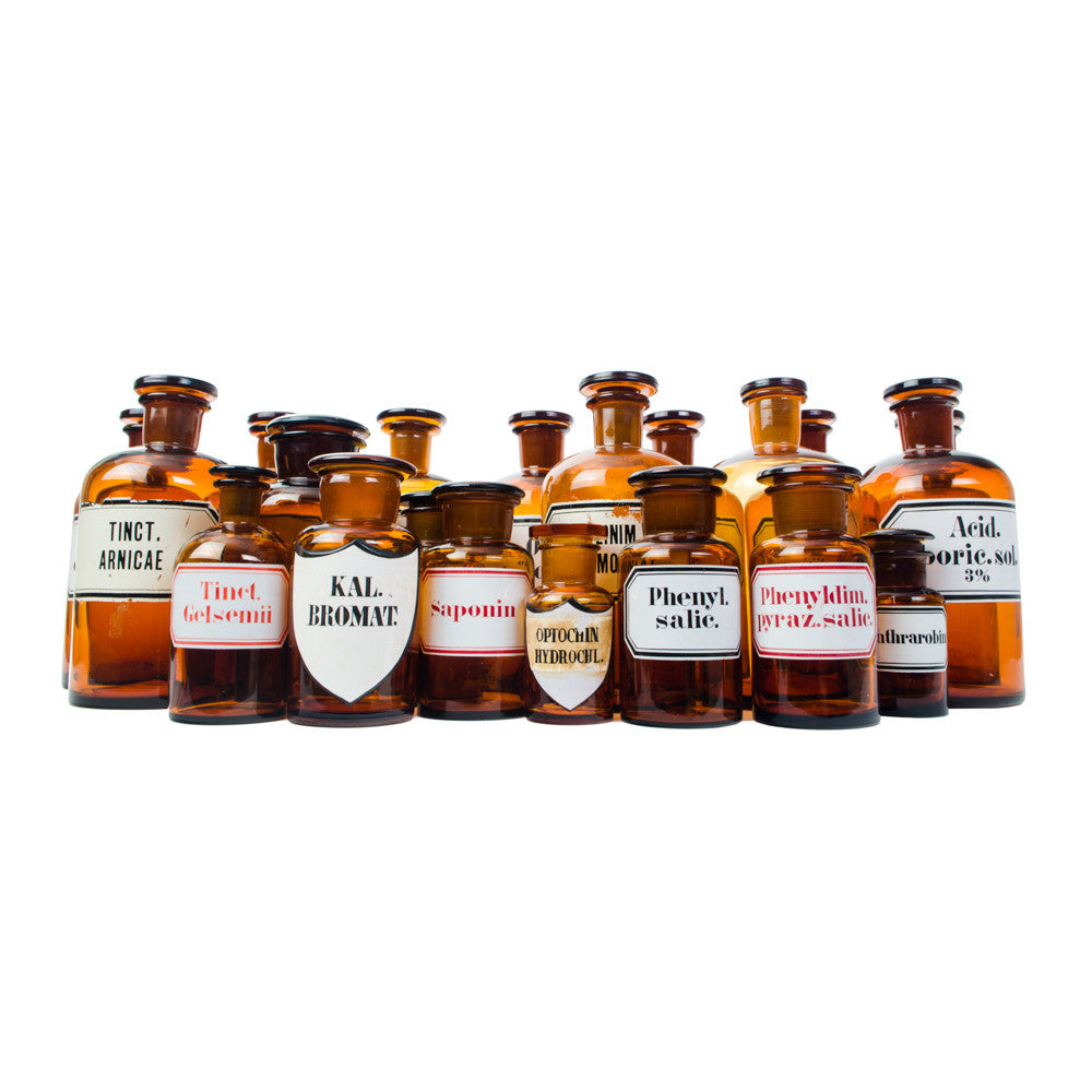 Vintage Apothecary Bottles - aptiques by Authentic PreOwned