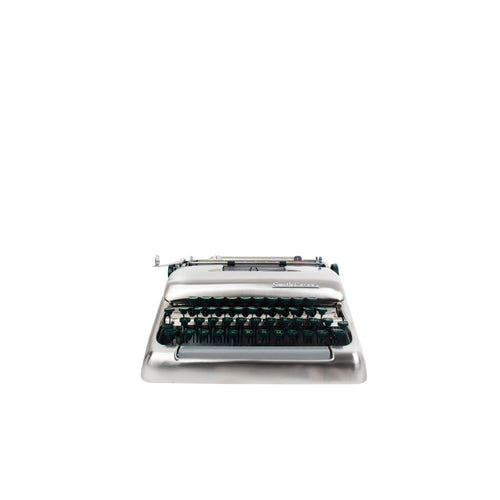 1955 Smith Corona Silver Brushed Nickel Typewriter