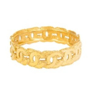 Chanel Vintage Double CC Logo Bangle