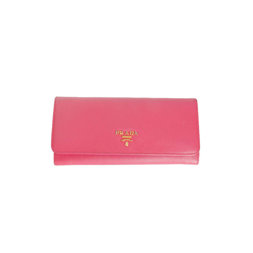 Prada Saffiano Leather Wallet - Authentic PreOwned