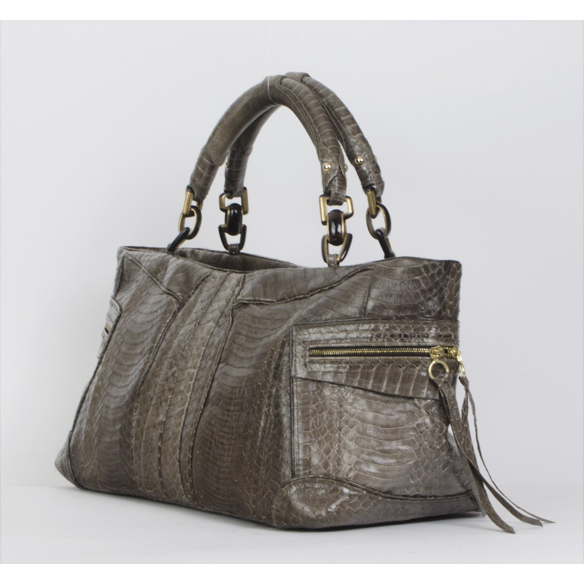 Ry Augousti Python Handbag - aptiques by Authentic PreOwned