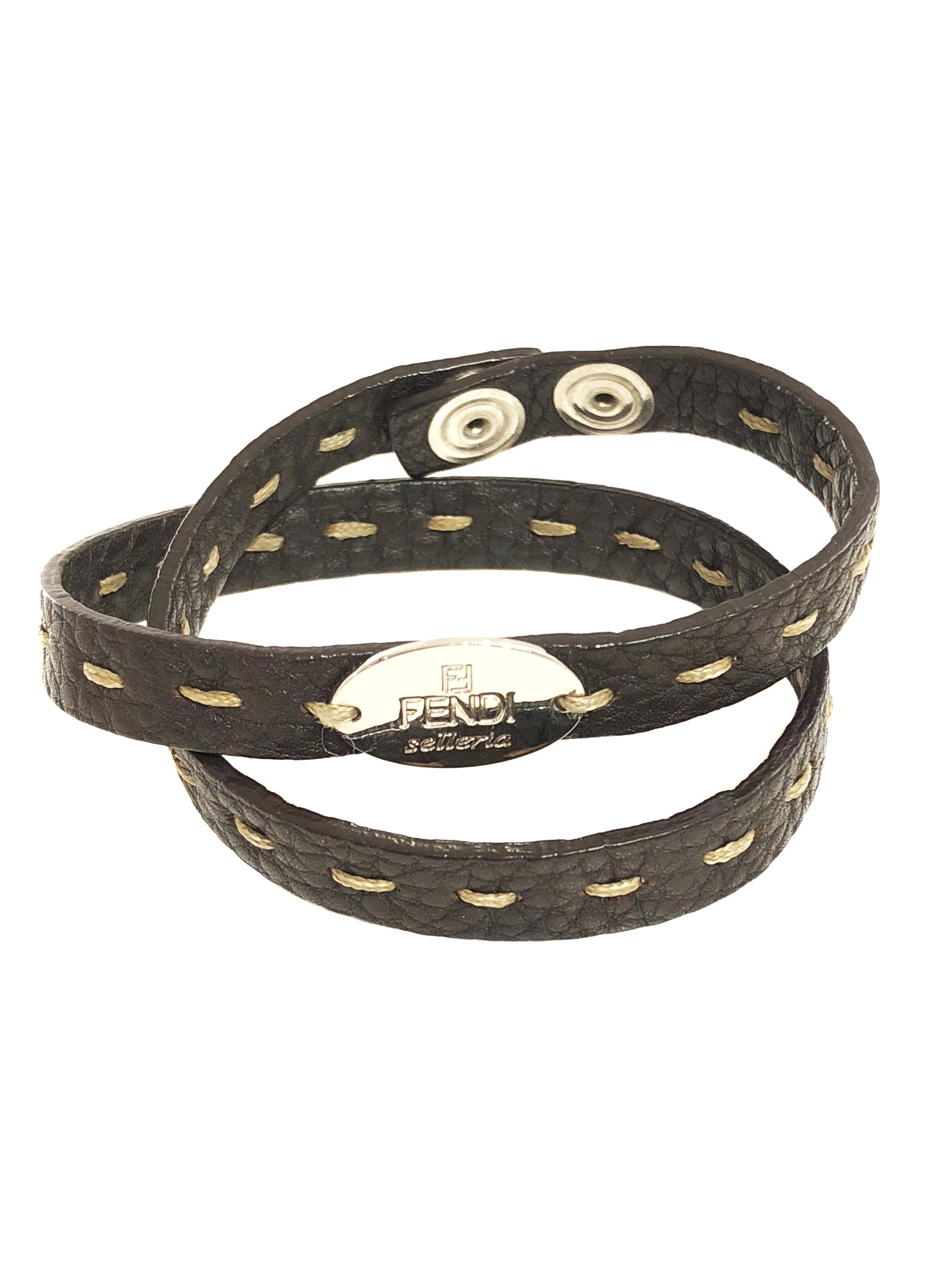 Fendi Leather Bracelet - Authentic PreOwned