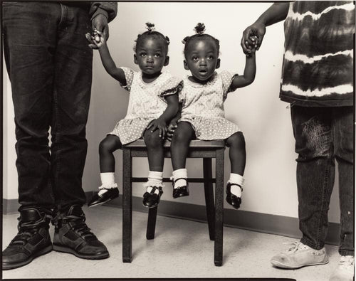 Vashira and Tashira Hargrove, Twins in help shelter, New York 1993 - aptiques by Authentic PreOwned