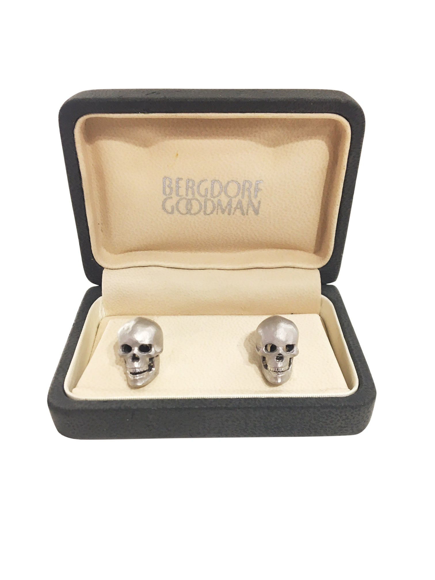 Deakin & Francis 18K Gold Diamond Skull Cuff links