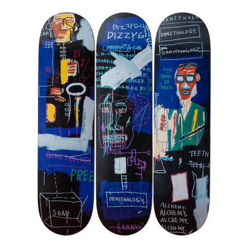 Jean- Michel Basquait- Horn Players, 1983-Skateboards - aptiques by Authentic PreOwned