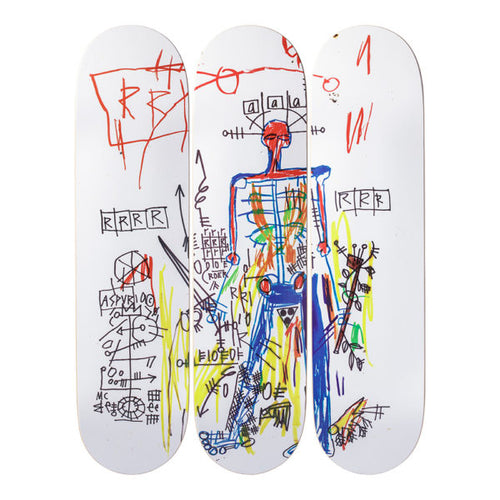 Jean-Michel Basquait-Robot-Skateboard - aptiques by Authentic PreOwned
