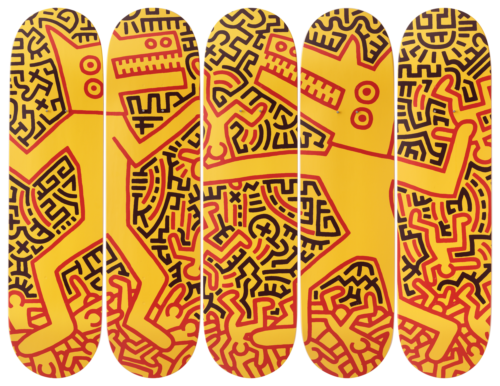 Keith Haring-Monsters-Skateboards - aptiques by Authentic PreOwned