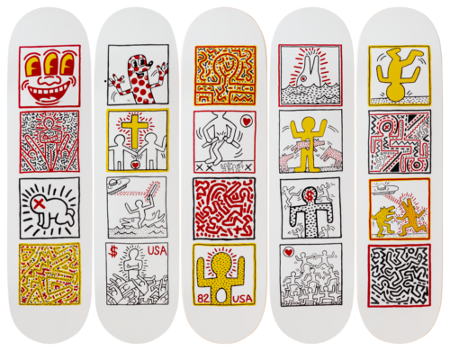 Keith Haring-One Man Show-Skateboards