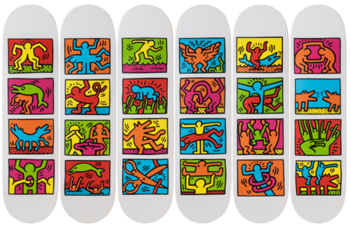 Keith Haring-Retrospect -Skateboards - aptiques by Authentic PreOwned