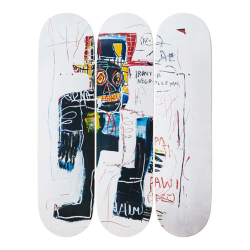 Jean-Michel Basquait- Irony of a Negro Policeman, 1981-Skateboards - aptiques by Authentic PreOwned