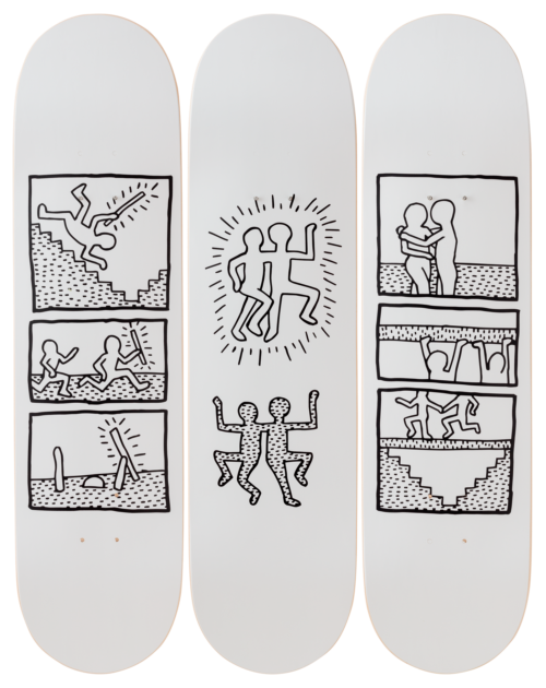Keith Haring-Untitled, 1981-Skateboards - aptiques by Authentic PreOwned
