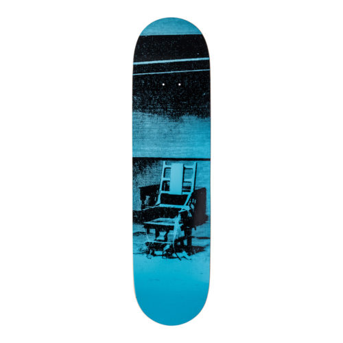 Andy Warhol-Electric Chair Blue-Skateboard - aptiques by Authentic PreOwned