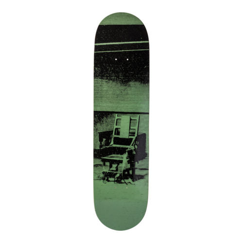 Andy Warhol-Electric Chair-Green-Skateboard - aptiques by Authentic PreOwned