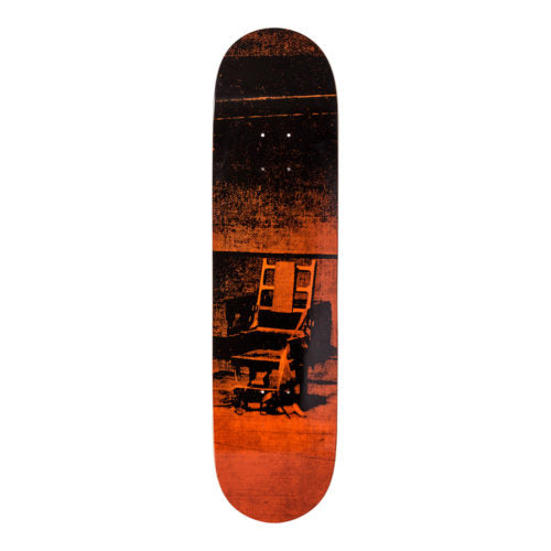 Andy Warhol-Electric Chair-Orange-Skateboard - aptiques by Authentic PreOwned