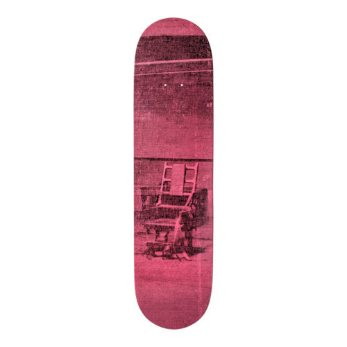 Andy Warhol-Electric Chair-Pink-Skateboard - aptiques by Authentic PreOwned