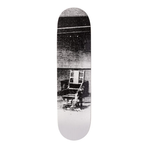 Andy Warhol-Electric Chair White-Skateboard - aptiques by Authentic PreOwned