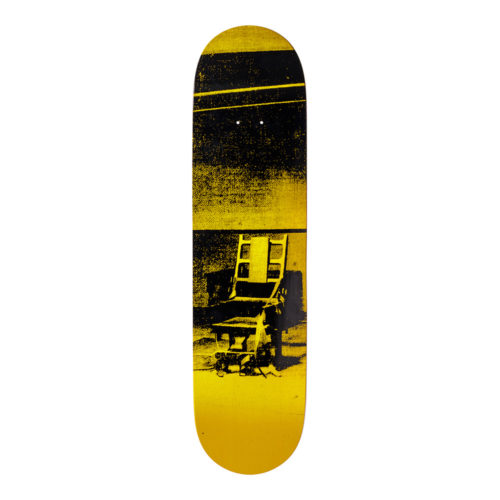 Andy Warhol-Electric Chair Yellow-Skateboard - aptiques by Authentic PreOwned