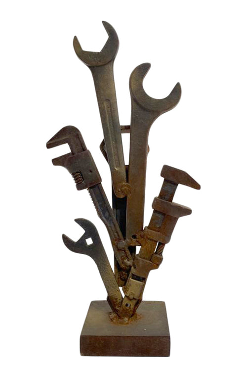 Metal Industrial Tool Sculpture By Ted Oberman - aptiques by Authentic PreOwned