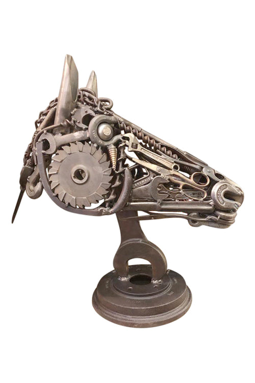 Life-Size Industrial Horse Head Sculpture - aptiques by Authentic PreOwned