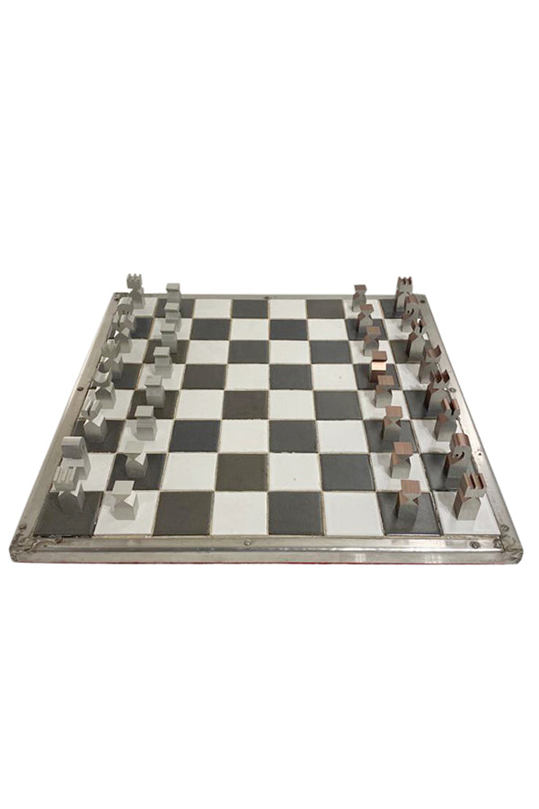 Modernist-Aluminum Chess Pieces - aptiques by Authentic PreOwned