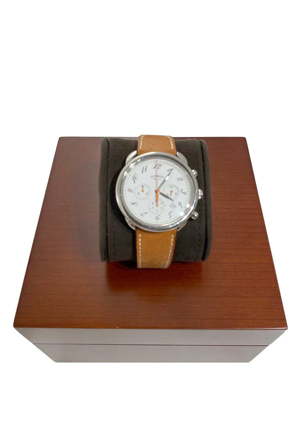 Hermes Arceau Chrono Bridon Watch - aptiques by Authentic PreOwned