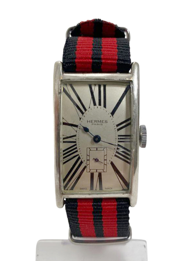 Hermes- Vintage- Art Deco- Rectangular Watch - aptiques by Authentic PreOwned