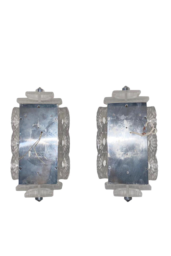 Vintage Lalique Seville Wall Sconces - aptiques by Authentic PreOwned