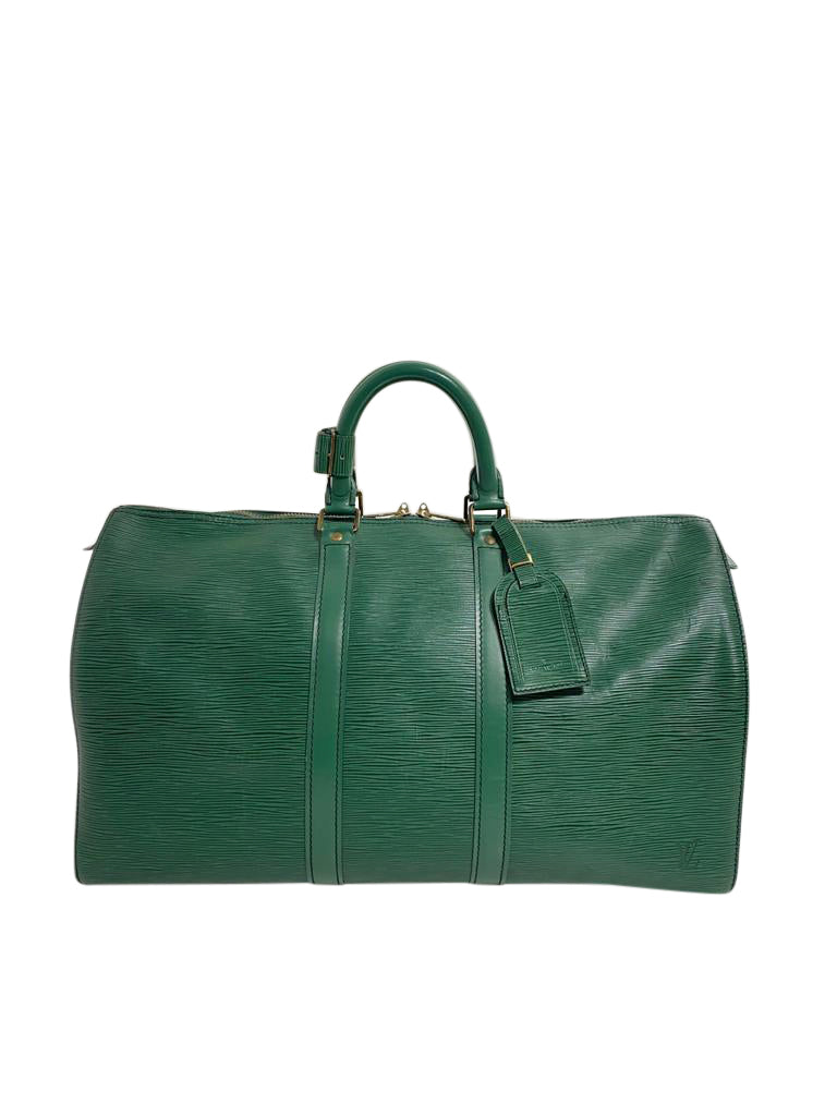 Louis Vuitton Green Epi Leather Keepall 50 - aptiques by Authentic PreOwned