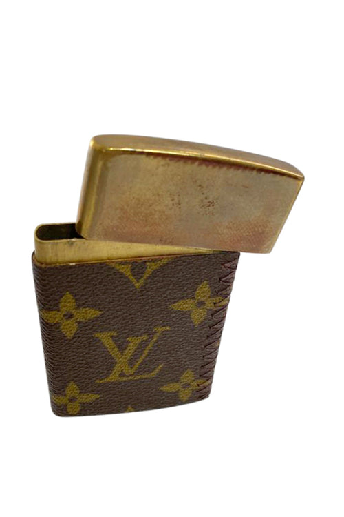 Custom Brass Card Case with Louis Vuitton cover
